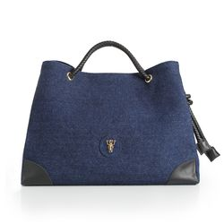 Rope shoulder bag - Blue(L) (로프숄더백)