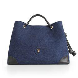 Rope shoulder bag - Blue(L) (로프숄더백)