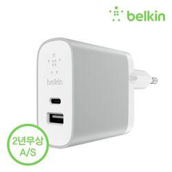 벨킨 USB-C타입+USB-A타입 가정용 충전기 F7U011kr