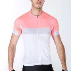 톰디어 자전거의류 바델 반팔져지 핑크화이트