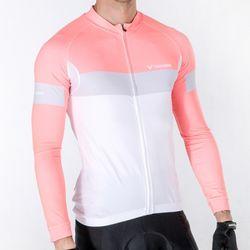 톰디어 자전거의류 바델 긴팔져지 핑크화이트