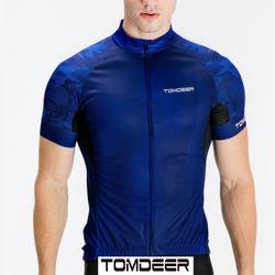 톰디어 자전거의류 블루카모 반팔져지