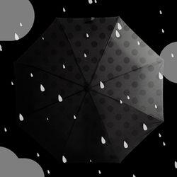 [원더스토어] 썩유케이 물방울 컬러체인지 3단 단우산