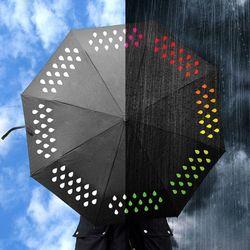 [원더스토어] 썩유케이 블랙 컬러체인지 3단 단우산