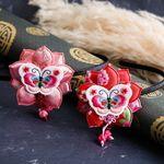 연꽃 나비 배씨 한복 머리띠