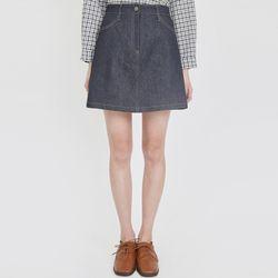 pick up denim skirt