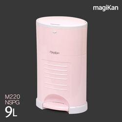 컬러 기저귀 휴지통 핑크 9L+장착리필1롤 M220NSPG