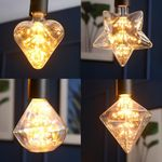LED에디슨 눈꽃램프2W 5타입(카페전구포인트전구)