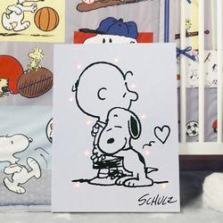 스누피와 찰리브라운 캔버스LED조명