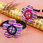 색동꽃 배씨 댕기 한복 머리띠