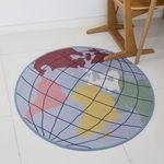 지구본 원형 러그