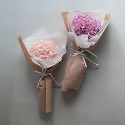 프리저브드 플라워 수국꽃다발 핑크 퍼플