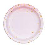 핑크마블도트 종이접시 L (10p)