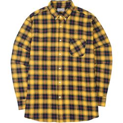 S.OVERSIZED 52 CHECK  SHIRTS YELLOW