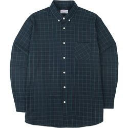 S.OVERSIZED 53 CHECK  SHIRTS GREEN