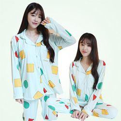 [무료배송] 짱구잠옷 세모네모 잠옷 파자마 홈웨어