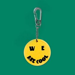 RUBBER KEY HOLDER COOL YELLOW