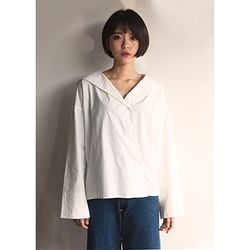 글래스 다이아그널 셔츠(3color)