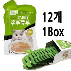 테비 쮸루쮸루 타우린 30g - 12개세트고양이간식스프
