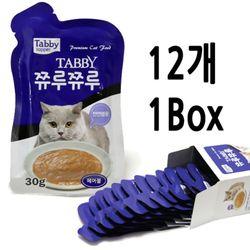 테비 쮸루쮸루 헤어볼 30g - 12개세트고양이간식스프