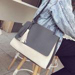 [엔비 니즈백] 투톤애플백 PU가방/토트백/핸드백/가방