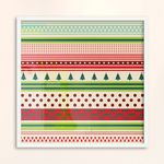 LP 메탈 액자 - 크리스마스 스트라이프 패턴