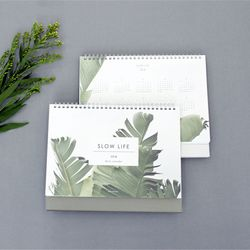 2018 Slow Life Desk Calendar - 그레이