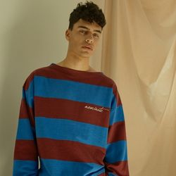 STRIPE SWEATSHIRT (WINE) - MEN