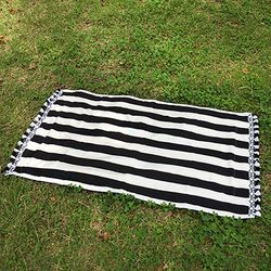 Stripe Black- Beach Towel