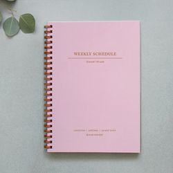 Weekly Schedule (pink gray) - 인디핑크