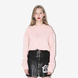 3인조밴드 자수 맨투맨 (핑크)