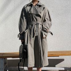 Oversize raglan trench coat