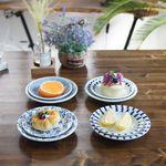 일본 블루에가와리 접시 4P세트-대