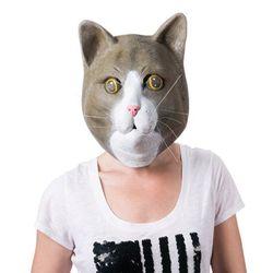브라운 캣 마스크 파티 고양이 가면