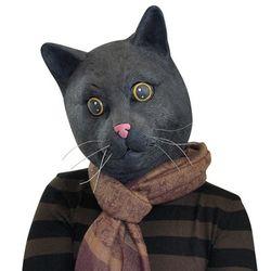블랙 캣 마스크 파티 고양이 가면