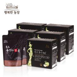 행복한 농장 마녀 풋사과즙 5박스+볶은 우엉차 진 2봉