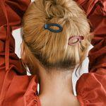 머리고정 무광 타원 집게핀(4개)