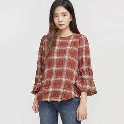 como lovely check blouse