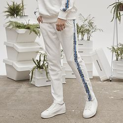 retainer tape sweat pants (ivory)