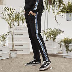 retainer tape sweat pants (black)