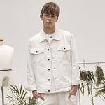 replaycontainer white twill jacket