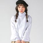 슈퍼레이티브 - BASIC POLONECK - 무지목폴라맨투맨