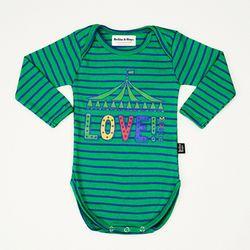 Green Love Stripe Bodysuit