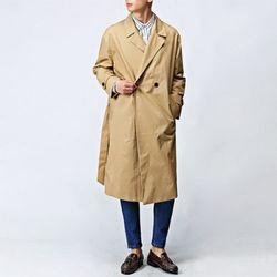 [매트블랙] 오버핏 코튼 트렌치 코트