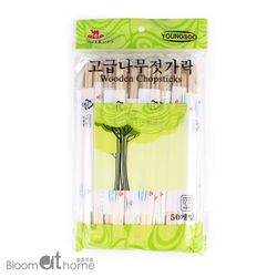 일회용 자작나무 젓가락 50개 1세트