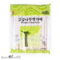 일회용 자작나무 젓가락 100개 1세트