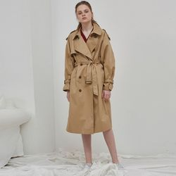 OVER SIZE TRENCH COAT (BEIGE)