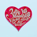 레이싱 스티커-MOON Love is(펄핑크)