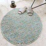 보카시 원형 러그 - 민트 (지름 60cm)