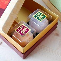 [대용량] 금박사각 복스티커 - 자주연녹 랜덤 7장